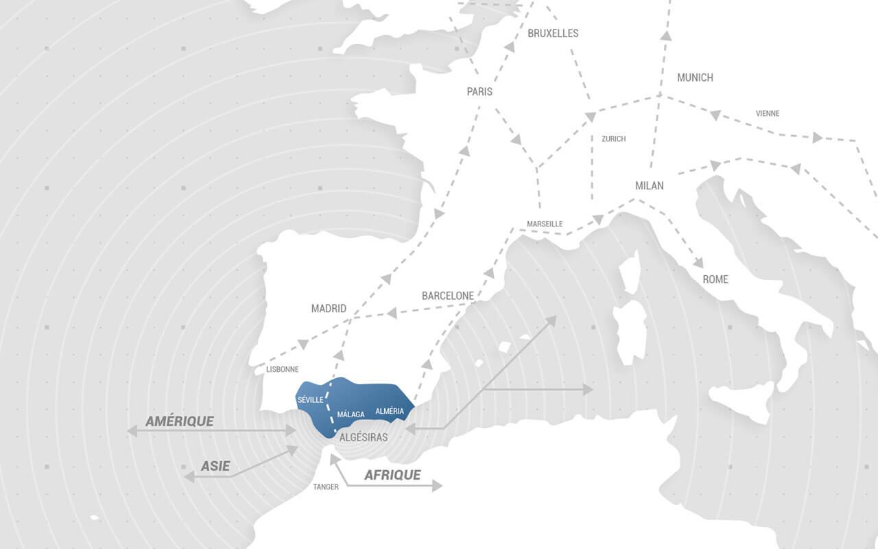 Carte Europe Puerto Seco Antequera Andalousie